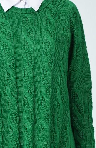 Triko Yarasa Kol Tunik 1922-12 Zümrüt Yeşili