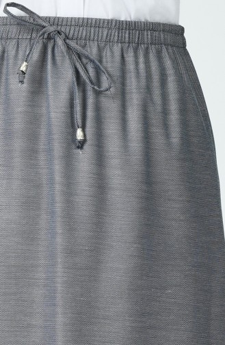 Gestreifter, elastisch gewebter Rock 1194ETK-01 Grau 1194ETK-01