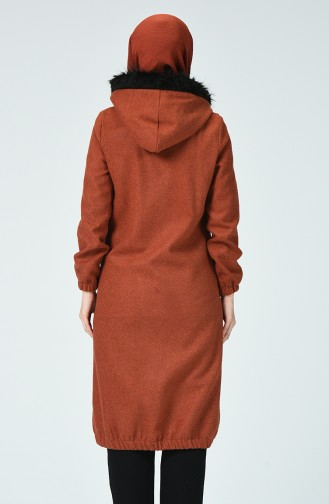 Fur Filt Coat Navy blue 5278-04