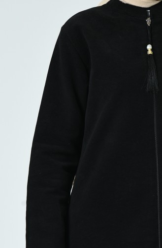 Fermuarlı Kaban 1035A-01 Siyah