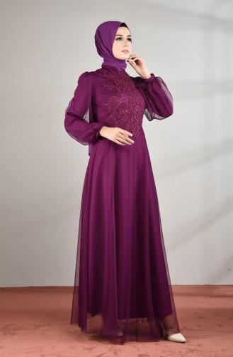 Tulle Abendkleid 5217-05 Lila 5217-05