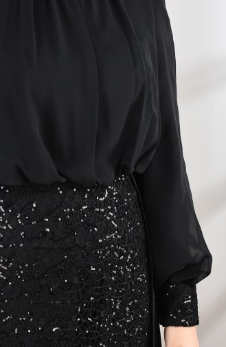Pailletten Abendkleid 5230-04 Schwarz 5230-04