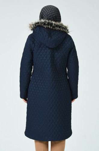 Navy Blue Long Coat 5134-02