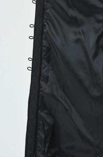 معطف طويل أسود 5134-03