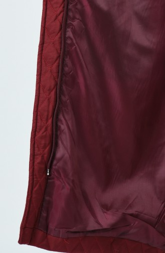 معطف طويل أحمر كلاريت 5134-05
