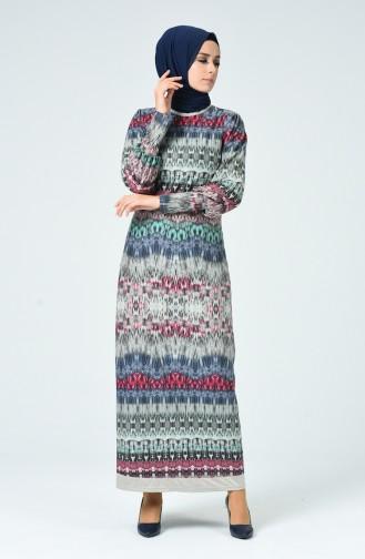 Khaki Hijap Kleider 1333-01