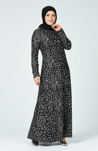Robe à Paillettes Grande Taille 9669-01 Noir 9669-01