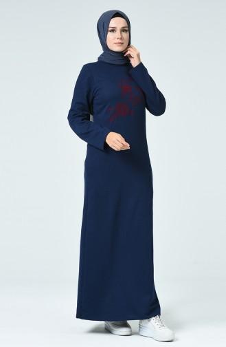 فستان أزرق كحلي 3115-03