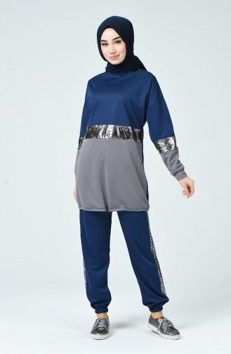 Navy Blue Sweatsuit 9073A-02