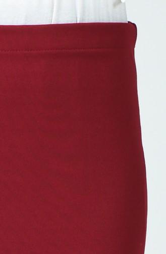 Bleistiftrock mit elastischer Taille 1981-01 Weinrot 1981-01