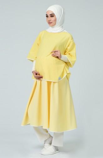 Robe Pour L accouchement DE19S Jaune 19S