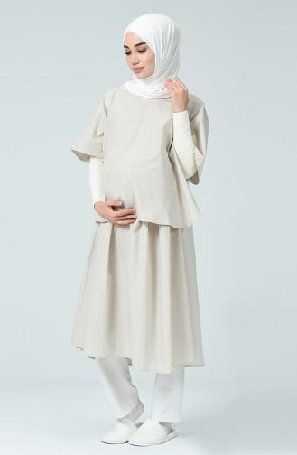 Robe Pour L accouchement DE19BP Beige 19BP