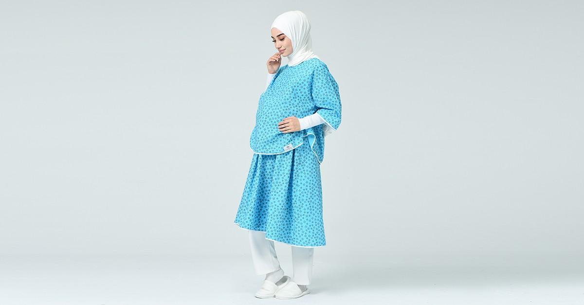 Robe Pour L Accouchement De19gdm Bleu 19gdm Sefamerve