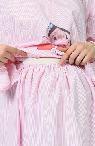 Robe Pour L accouchement DE19ADP Rose 19ADP