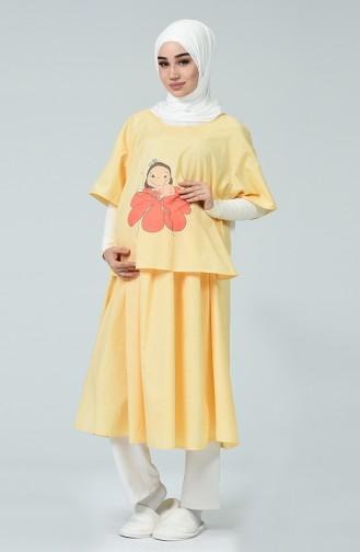 Robe Pour L accouchement DE19ADS Jaune 19ADS