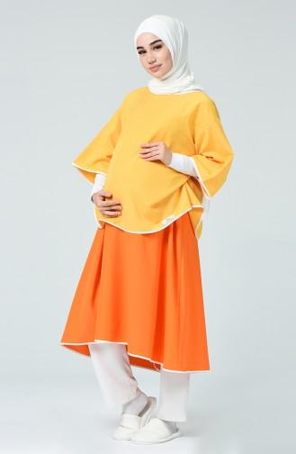Doğum Elbisesi DE19T Turuncu