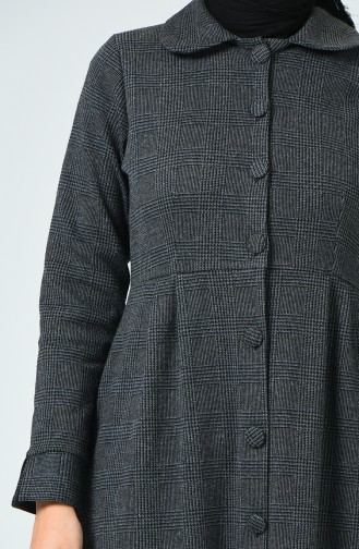 Buttoned Winter Cape Anthracite 1981A-02