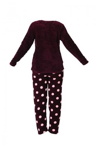 Claret red Pyjama 1500-01