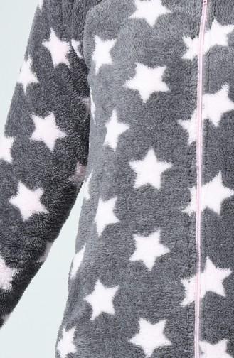 Ensemble Pyjama à Motifs Étoile Pour Femme MBY1505 Gris 1505