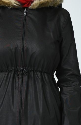 Caban à Double Face 6831-06 Noir Bordeaux 6831-06