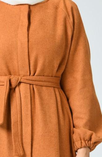 Elastic Sleeve Belted Cape Dark Mustard 1034-01