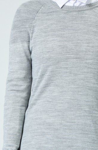 Pull Tricot Long 0548-03 Gris 0548-03