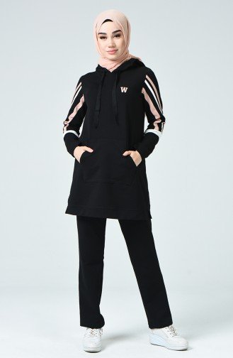 Kangaroo Pocket Tracksuit Black 9121-03
