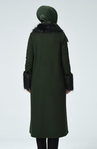 معطف طويل أخضر زمردي 0472-02