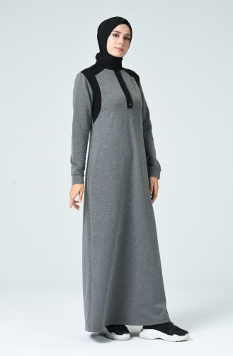 فستان فحم الإنتراسيت 9138-01