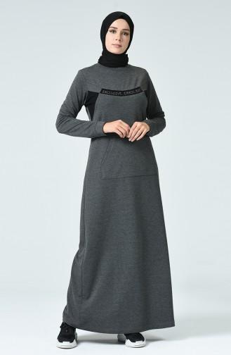 Anthracite Hijab Dress 9139-04