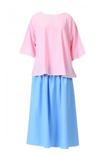 Geburt Kleid DE19PM Pink Blau 19PM