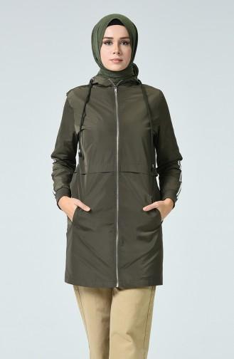 Khaki Trench Coats Models 1017-02