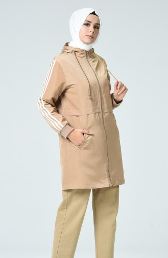 Beige Trench Coats Models 1017-05