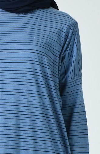 Striped Tunic Blue 1211-01