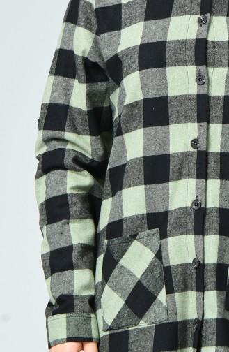 Pistachio Green Overhemdblouse 1025-03