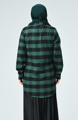 Chemise Bûcheron à Poche Grande Taille 1026A-03 Noir Vert émeraude 1026A-03