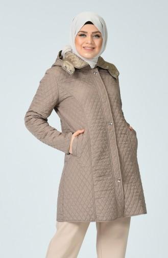 Plus Size Lined Coat 1062-06 Mink 1062-06
