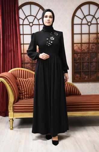 Black İslamitische Avondjurk 8031-05