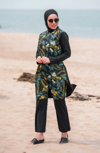 Black Swimsuit Hijab 281-03