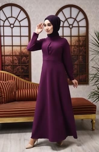 Lila Hijap Kleider 2704-02