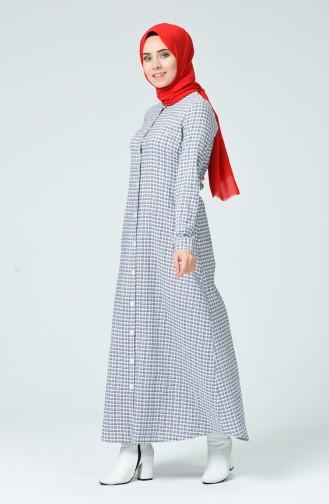 Dunkelblau Hijap Kleider 1269-06