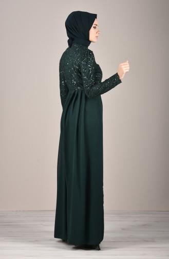 Pailletten Abendkleid 5219-03 Smaragdgrün 5219-03