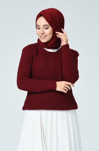 Pull Tricot Court 3450-07 Bordeaux 3450-07