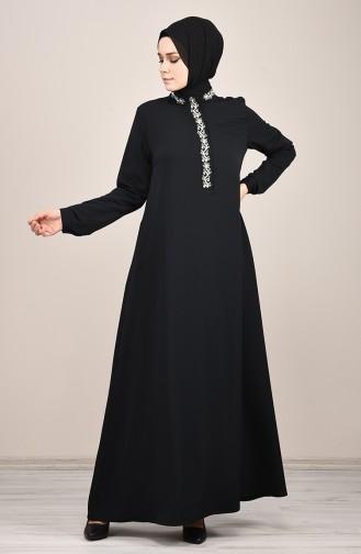 Black İslamitische Jurk 8019-03