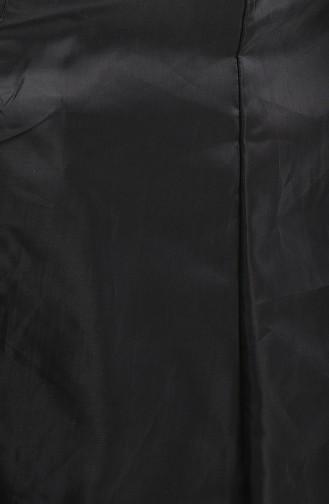 Trenchcoat mit Tasche  0035-03 Schwarz 0035-03