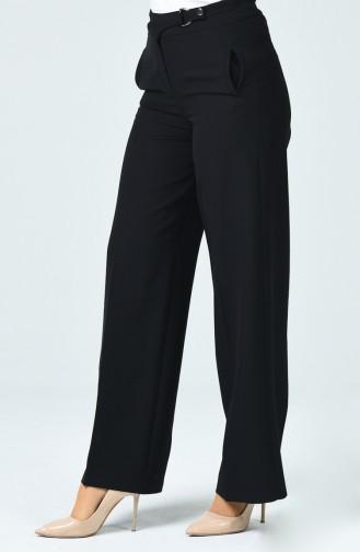 Pantalon Large à Poche 3144-03 Noir 3144-03