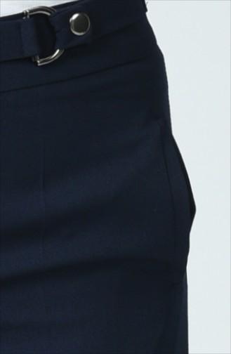 Pantalon Large à Poche  3144-04 Bleu Marine 3144-04