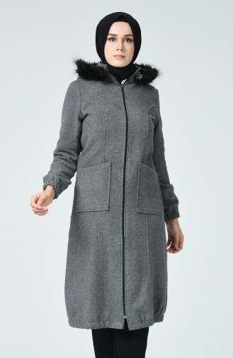 Gray Long Coat 5278-10