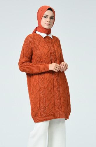 Tricot Silvery Sweater Brick 1936-02