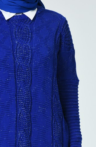 Tricot Silvery Sweater Blue 1936-06